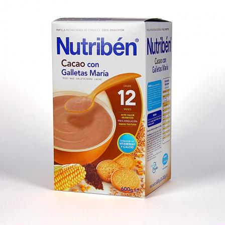 Farmacia Jiménez | Nutriben Cereales Cacao Galletas Maria 500 g