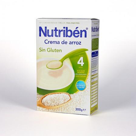 Farmacia Jiménez | Nutribén Crema de Arroz sin Gluten 300 g