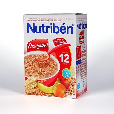 Farmacia Jiménez | Nutriben Desayuno Copos de Trigo y Frutas 750 g