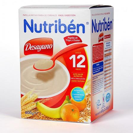 Farmacia Jiménez | Nutriben Desayuno Papilla de Trigo y Frutas 600 g