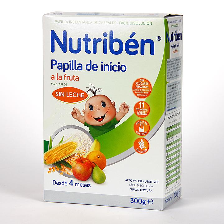 Farmacia Jiménez | Nutribén Papilla de Inicio a la Fruta sin Gluten 300 g