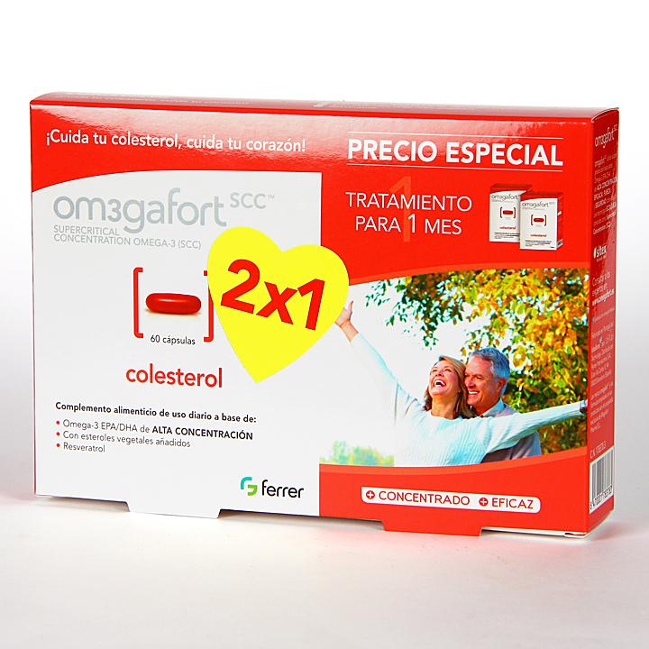 Farmacia Jiménez   Omegafort Colesterol 60 cápsulas Pack Duplo
