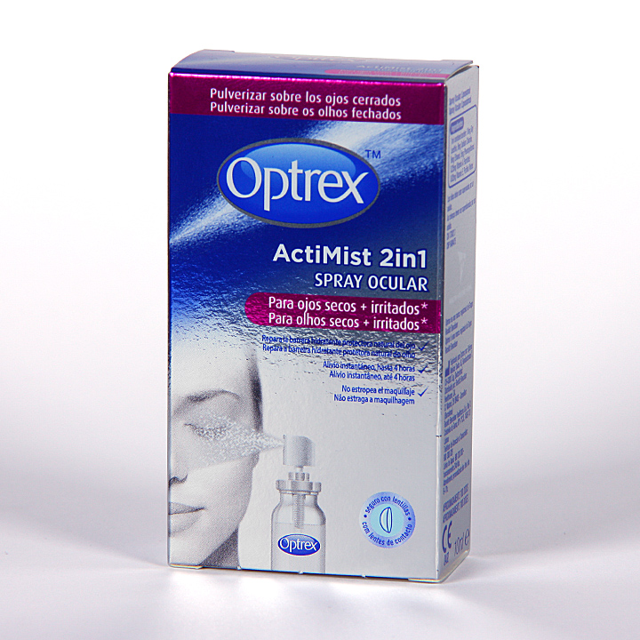Farmacia Jiménez | Optrex Actimist spray ocular ojos secos e irritados 10 ml