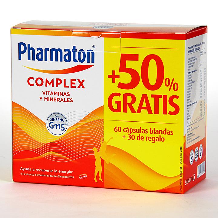 Farmacia Jiménez | Pharmaton Complex 60+30 Cápsulas blandas Pack ahorro