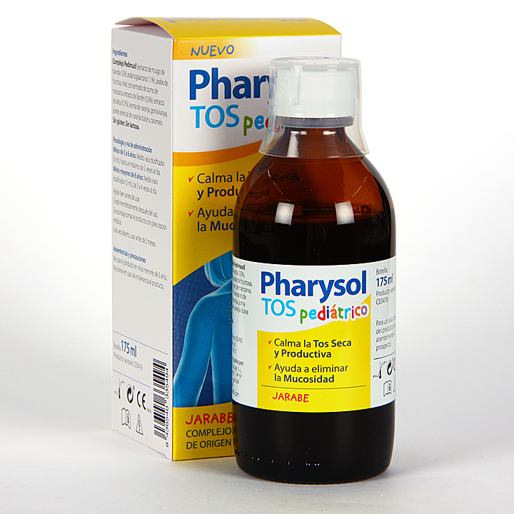 Farmacia Jiménez | Pharysol Tos Pediátrico Jarabe 175 ml