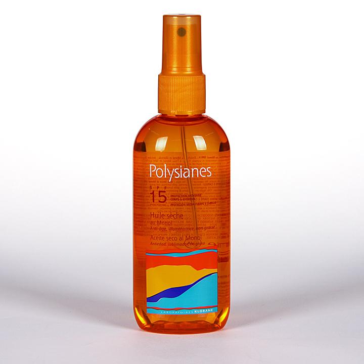 Farmacia Jiménez   Polysianes Klorane Aceite Seco SPF15 150 ml