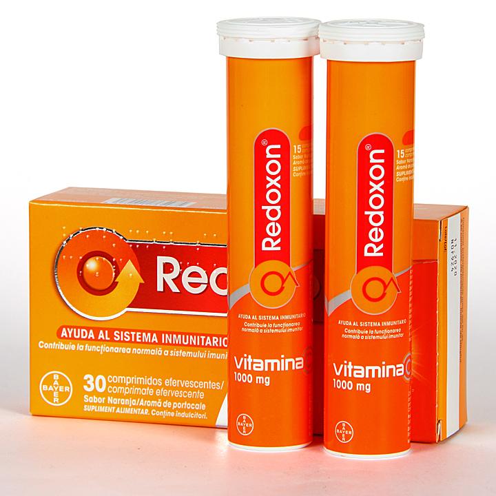 Farmacia Jiménez | Redoxon Vitamina C 30 comprimidos efervescentes Naranja