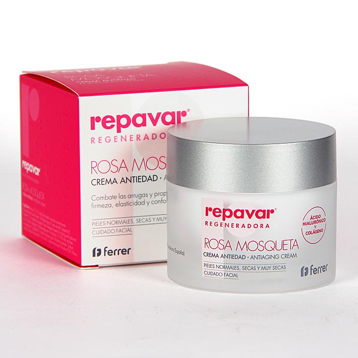 Farmacia Jiménez | Repavar Regeneradora Crema Antiedad Rosa Mosqueta 50 ml