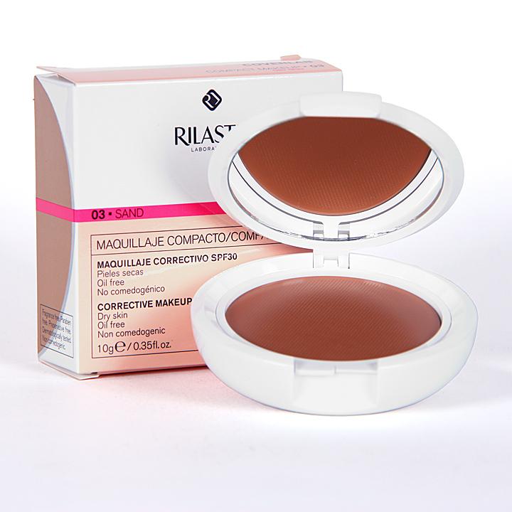 Farmacia Jiménez | Rilastil Cumlaude Coverlab Maquillaje compacto piel normal-seca Sand 03