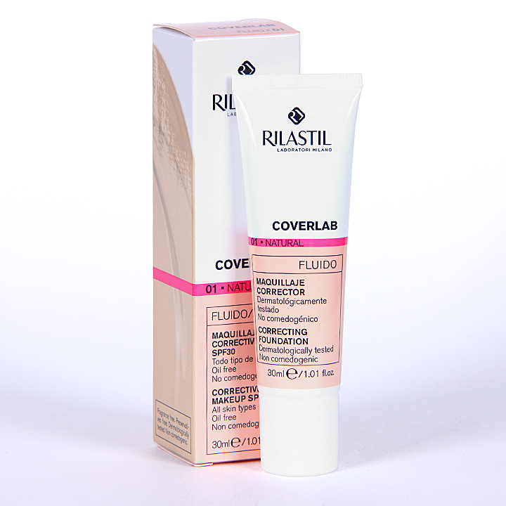 Farmacia Jiménez | Rilastil Cumlaude Coverlab Maquillaje Fluido Natural 01