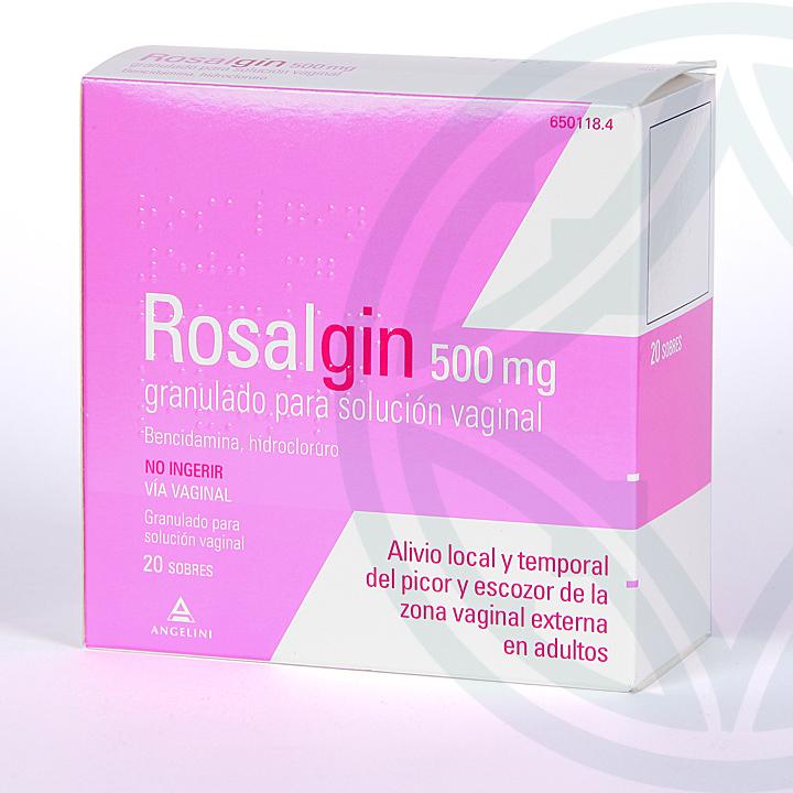 Farmacia Jiménez   Rosalgin 500 mg granulado para solución vaginal 20 sobres