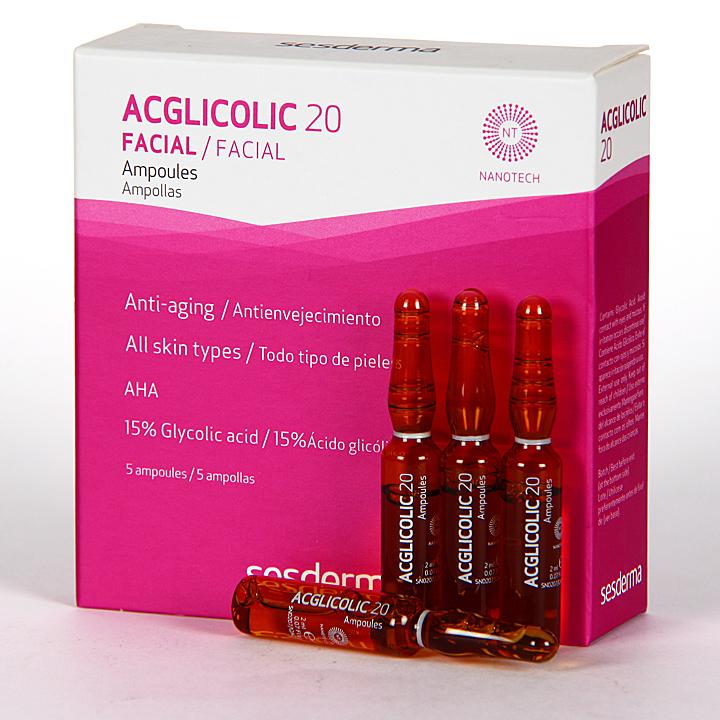 Farmacia Jiménez | Sesderma Acglicolic 20 Ampollas 5x2ml
