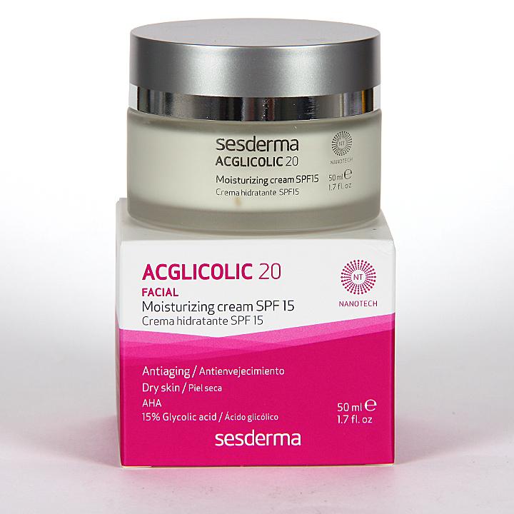 Farmacia Jiménez | Sesderma Acglicolic 20 Crema Hidratante SPF15 50 ml