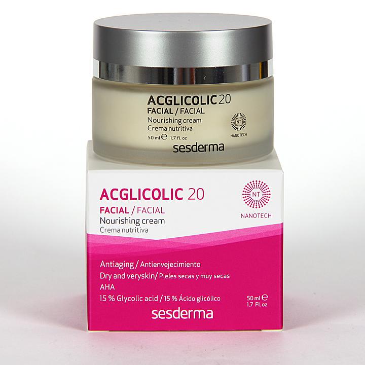 Farmacia Jiménez | Sesderma Acglicolic 20 Crema Nutritiva 50 ml