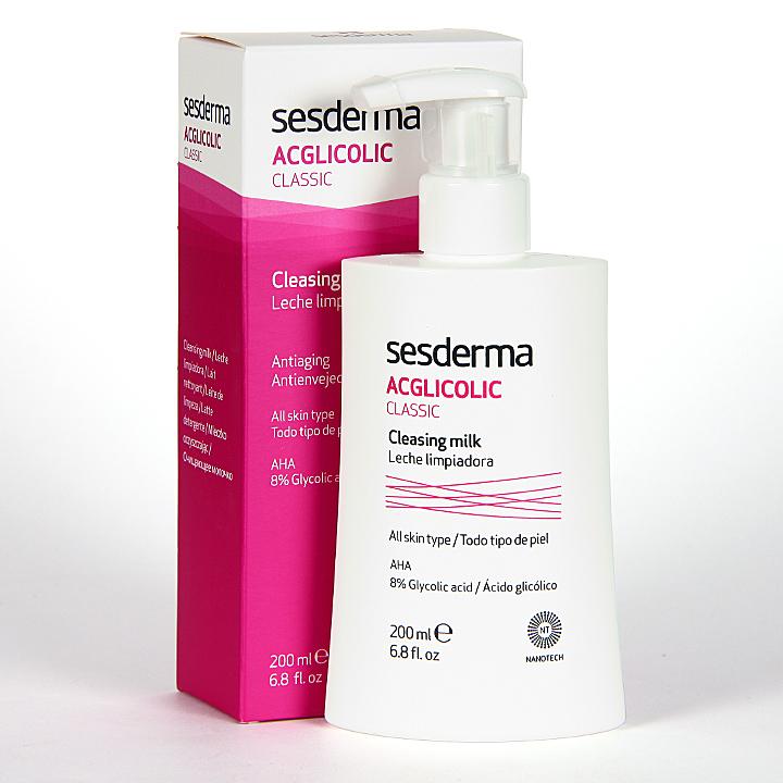 Farmacia Jiménez | Sesderma Acglicolic Classic Leche Limpiadora Facial 200 ml