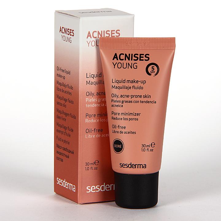 Farmacia Jiménez | Sesderma Acnises Young Maquillaje Fluido Doré 30 ml