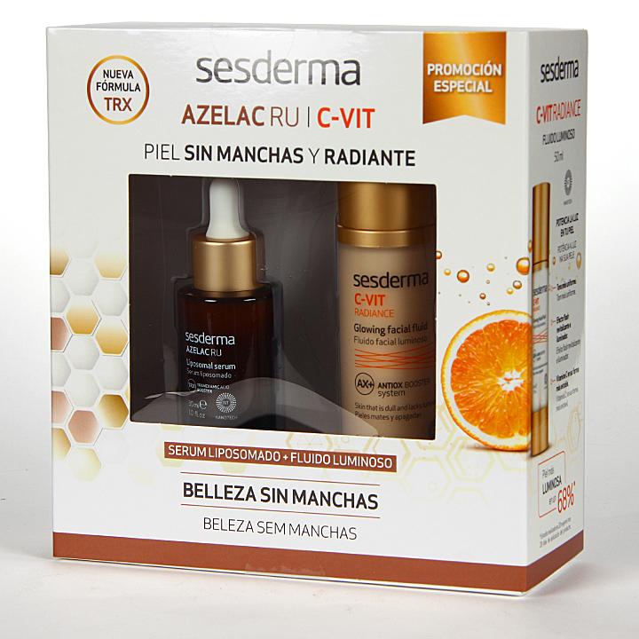 Farmacia Jiménez | Sesderma Azelac Ru Serum + C-vit Fluido Luminoso Pack Regalo