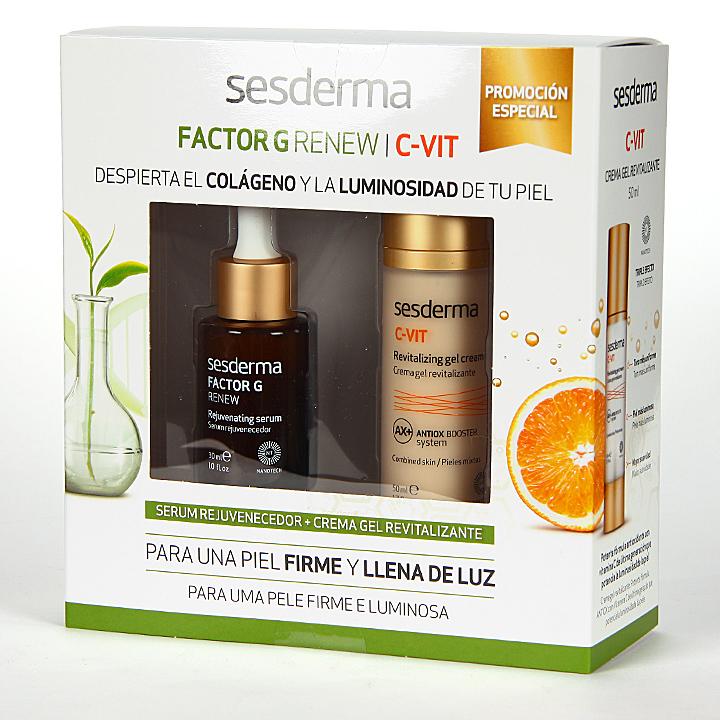 Farmacia Jiménez | Sesderma Factor G Serum + C-vit Crema Gel Pack Regalo