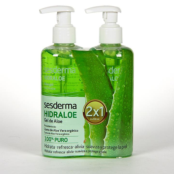 Farmacia Jiménez | Sesderma Hidraloe Gel de Aloe 250 ml Duplo 2×1