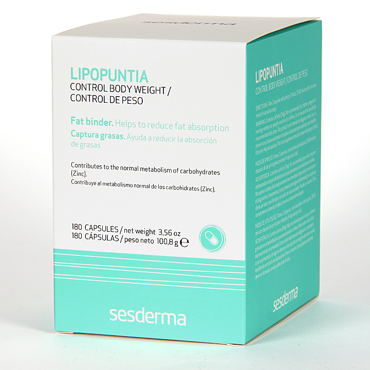 Farmacia Jiménez | Sesderma Lipopuntia Control de Peso 180 cápsulas