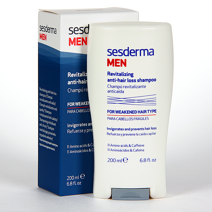 Farmacia Jiménez | Sesderma Men Champú Revitalizante Anticaída 200 ml