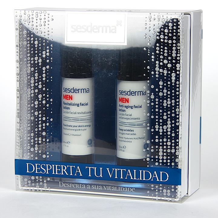Farmacia Jiménez | Sesderma Men Loción Antienvejecimiento + Loción Revitalizante Pack