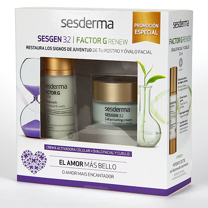 Farmacia Jiménez | Sesderma Sesgen 32 Crema + Factor G Óvalo Facial y Cuello Pack Regalo