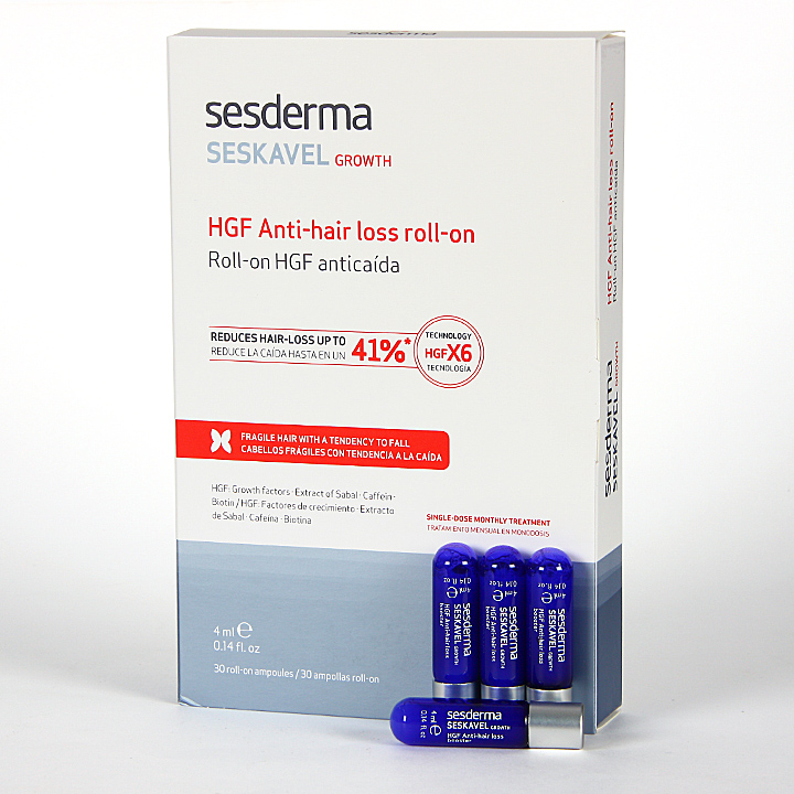 Farmacia Jiménez | Sesderma Seskavel Growth Roll-on Anticaída 30x4 ml