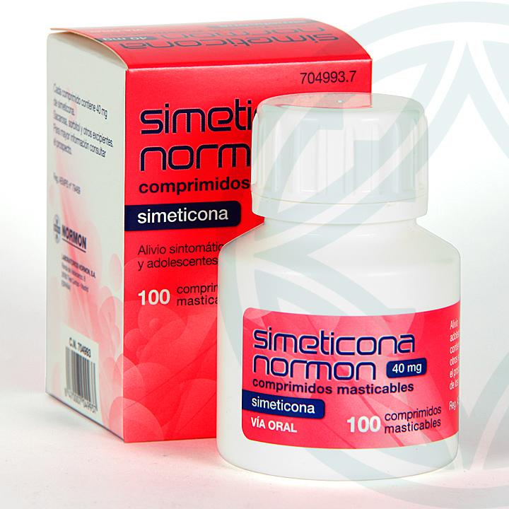Farmacia Jiménez | Simeticona Normon 120 mg 40 comprimidos masticables