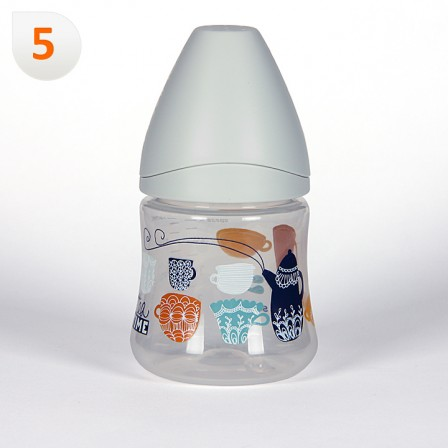 Farmacia Jiménez | Suavinex Biberón Boca Ancha Tetina 3 posiciones Látex 150 ml