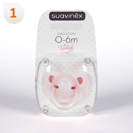 Farmacia Jiménez | Suavinex Chupete Vintage Rosa Anatómico Látex 0-6meses 1 unidad