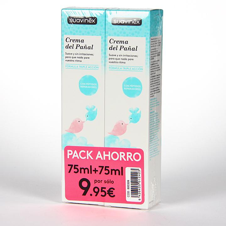 Farmacia Jiménez | Suavinex Crema de Pañal 75 ml Duplo