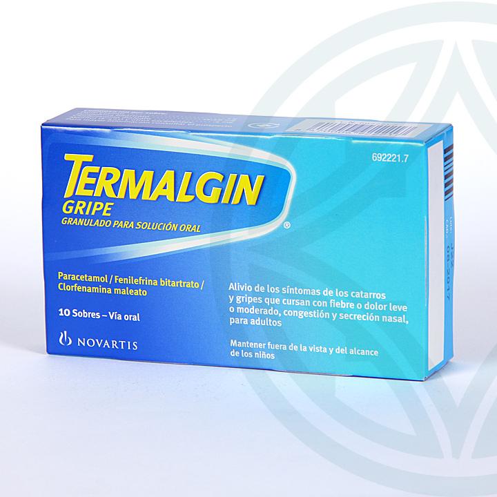 Farmacia Jiménez | Termalgin Gripe 10 sobres