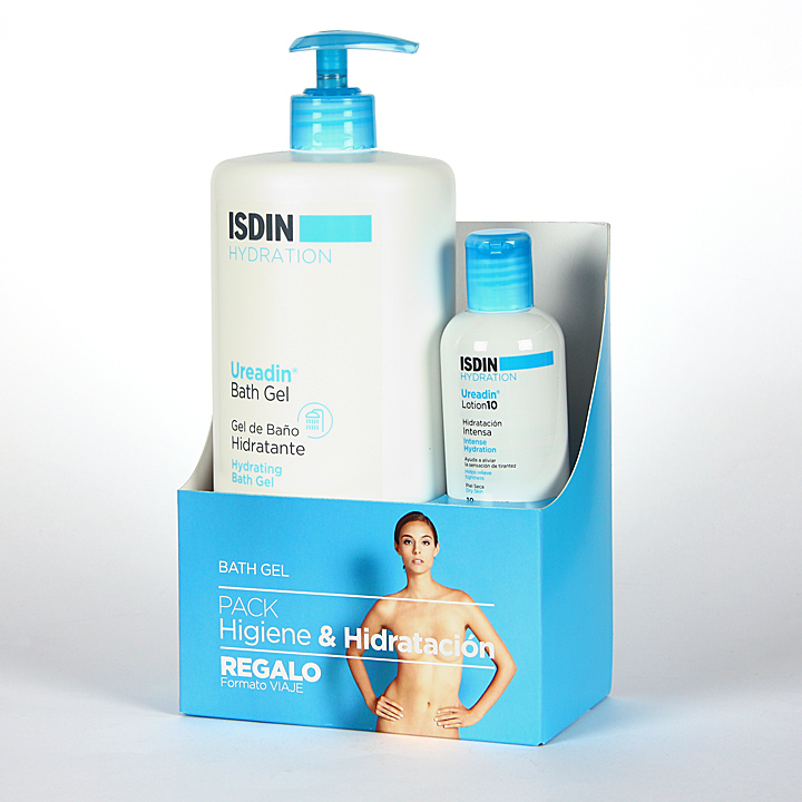 Farmacia Jiménez | Isdin Hydration Ureadin Gel de Baño 1 L + Ureadin Lotion10 100 ml Pack Regalo