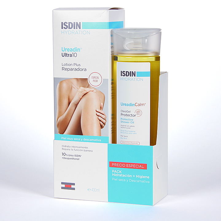 Farmacia Jiménez | Isdin Hydration Ureadin Ultra10 Lotion Plus + Ureadin Calm Oleo Gel Pack