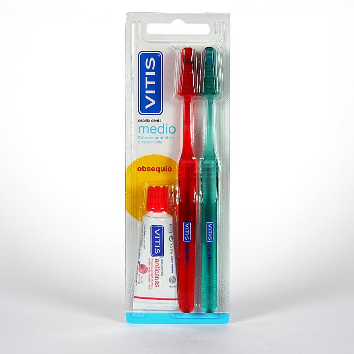 Farmacia Jiménez | Vitis Cepillo dental medio Duplo
