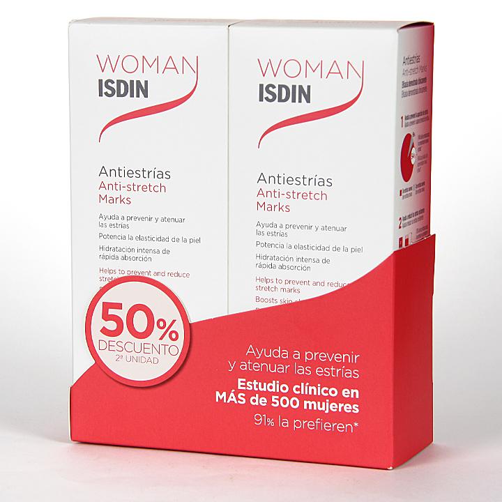 Farmacia Jiménez | Woman Isdin Crema Antiestrías 250 ml Pack Duplo