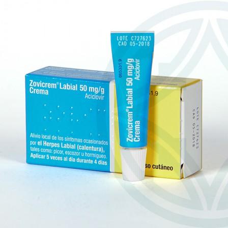Farmacia Jiménez | Zovicrem Labial 50 mg/g crema 2 g