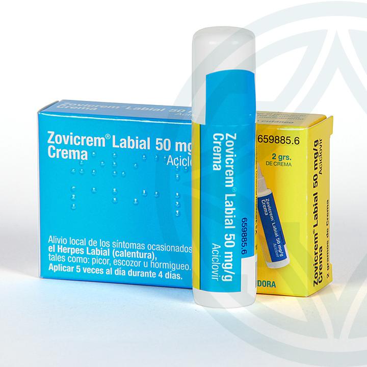 Farmacia Jiménez | Zovicrem Labial Crema dosificador 50mg/g 2 g