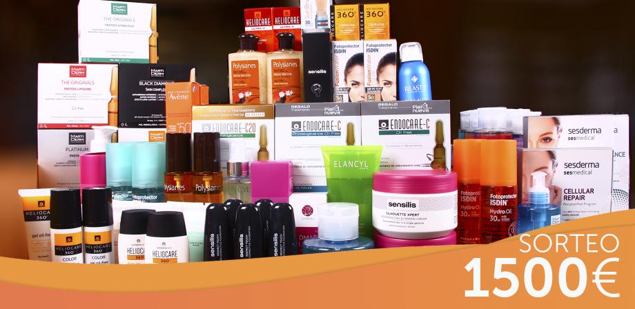 ¡SUPER SORTEO! ¡Te regalamos 1500€ en productos de cosmética para tu piel!