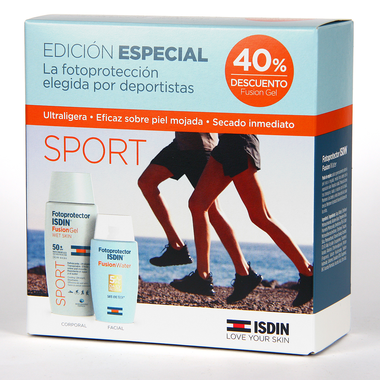 Fusion Water ISDIN + Fusion Gel Sport PACK Oferta