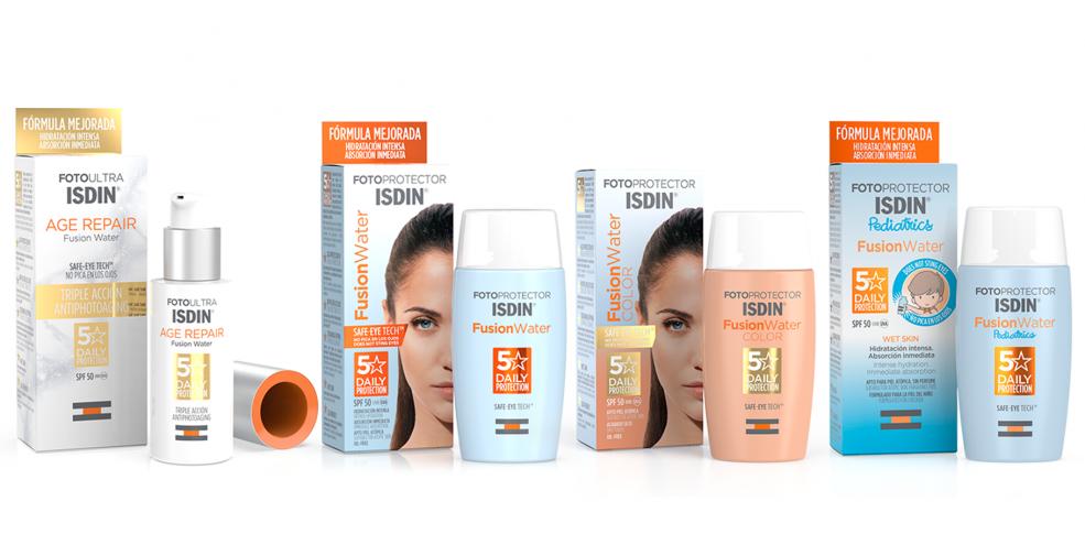 ISDIN Fusion Water, el fotoprotector ISDIN antiedad y con color