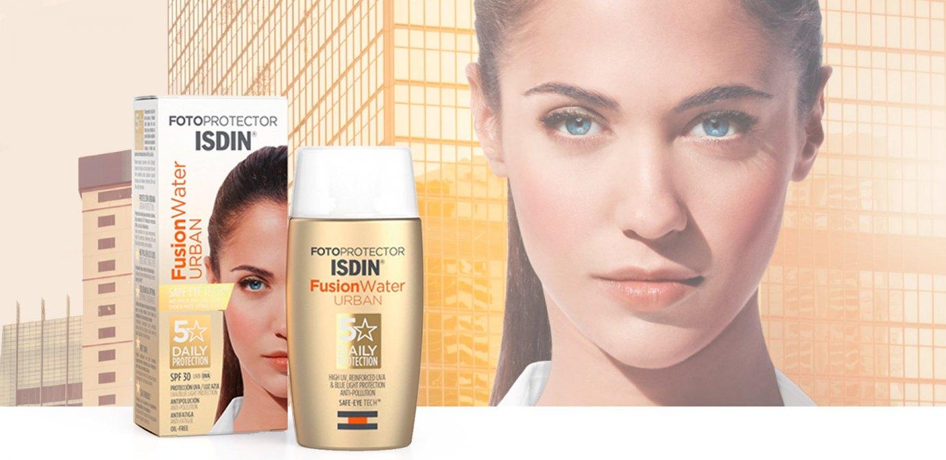 ISDIN Fusion Water Urban SPF 30, la fotoprotección antipolución y antifatiga