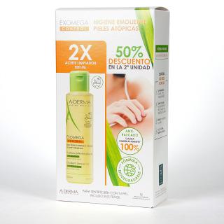 A-Derma Exomega Duplo Aceite de ducha y baño Pack 2 unidades