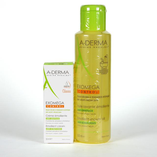 A-Derma Exomega Aceite de ducha y baño +DEFI crema 50 ml de regalo