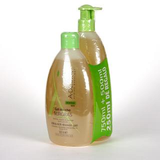 A-Derma Gel de ducha sobregraso 750 + 500 ml Pack Promoción