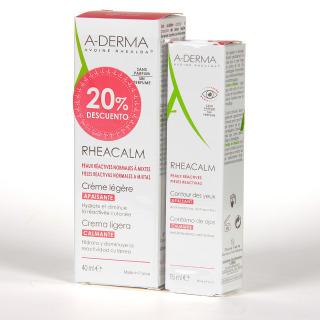 A-Derma Rheacalm Crema Ligera + Contorno de ojos Pack 20% DTO