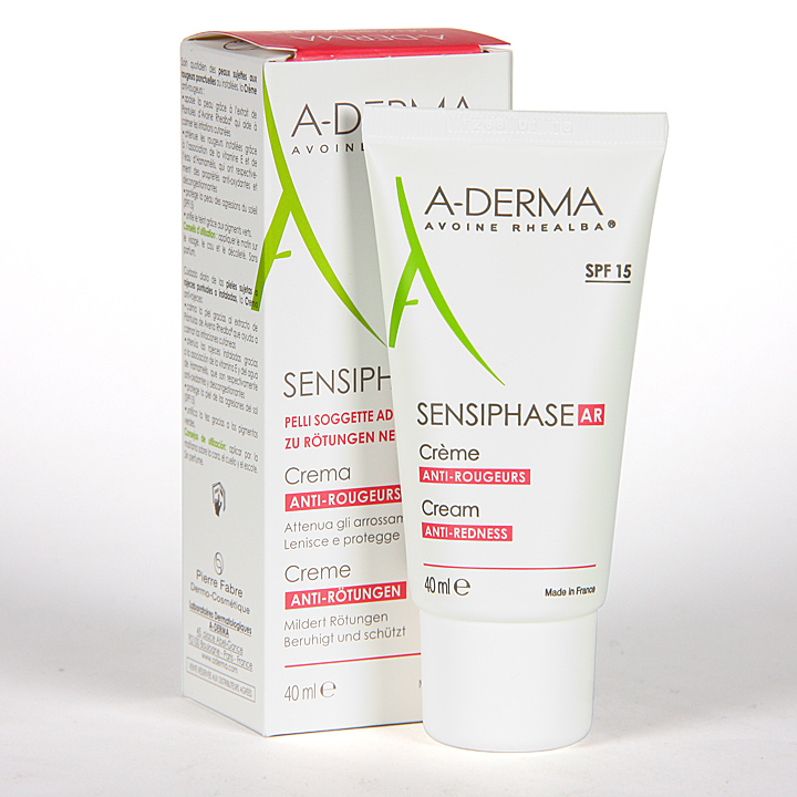 A-Derma Sensiphase Crema antirojeces SPF15 40ml