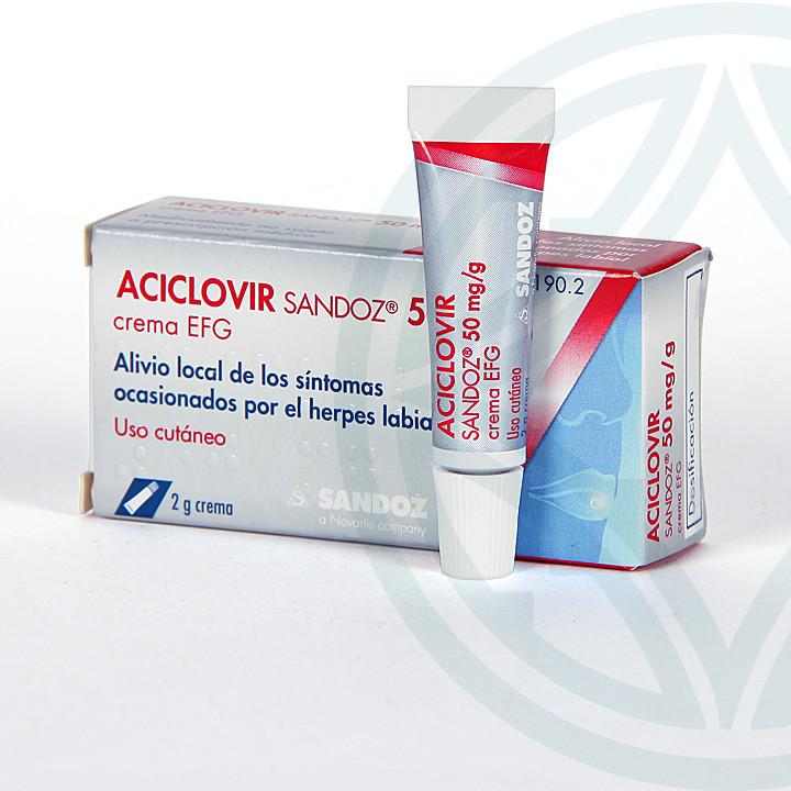 Aciclovir Sandoz EFG Crema 2 g