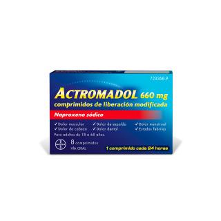 Actromadol 660 mg 8 comprimidos de liberación modificada